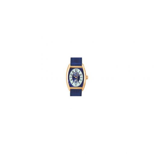 Franck Muller Cintre Curvex Chronometro Lady Blue Dial 18K Rose Gold Ladies Watch, preowned.7502-S6-CHRONOMETRO-Blue 2