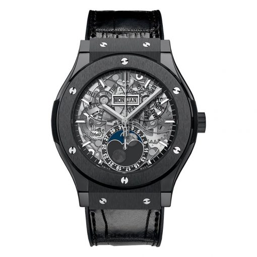 Hublot Classic Fusion Moonphase Automatic Ceramic Men's Watch, 517.CX.0170.LR