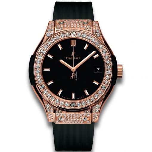 Hublot Classic Fusion 33 MM Quartz 18K King Gold Women's Watch, 581.OX.1181.RX.1704
