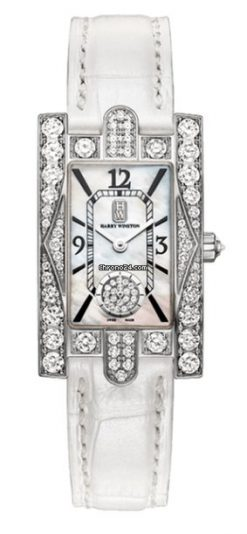 Harry Winston Avenue C Aurora Mother of Pearl Dial 18k White Gold Diamond… AVEQHM21WW231