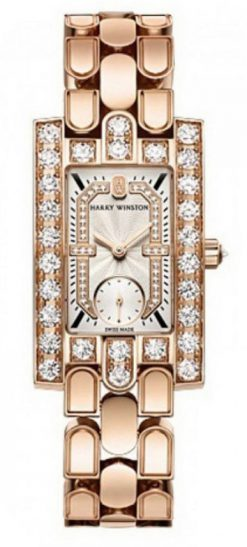 Harry Winston Avenue Classic 18k Rose Gold Diamonds Ladies Watch AVEQHM21RR123