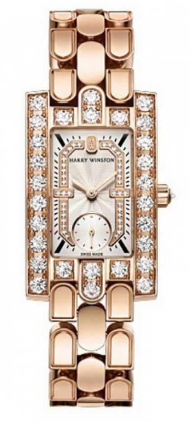 Harry Winston Avenue Classic 18k Rose Gold Diamonds Ladies Watch, AVEQHM21RR123