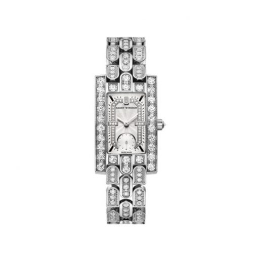 Harry Winston Avenue Classic 18k White Gold Diamonds Ladies Watch, AVEQHM21WW285