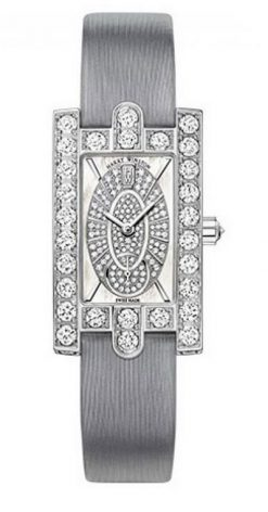Harry Winston Avenue Classic 18k White Gold Mother of Pearl Dial Diamonds Ladies… AVEQHM21WW241