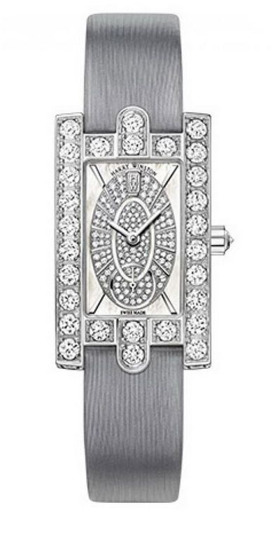Harry Winston Avenue Classic 18k White Gold Mother of Pearl Dial Diamonds Ladies Watch, AVEQHM21WW241