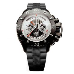 Zenith Defy Xtreme Open El Primero Chronograph Titanium Rubber Men`s Watch preowned.96.0525.4000.21.R642