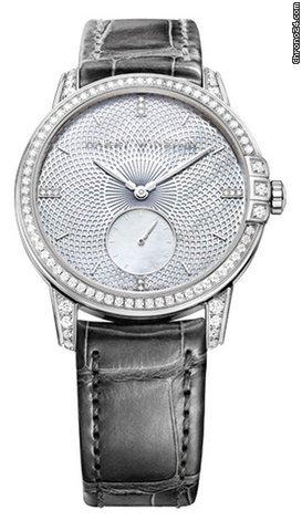 Harry Winston Midnight Infiniti 18K White Gold Diamonds Leather Ladies Watch, 450/LA36WL.MD1/D3.1-(MIDASS36WW001)