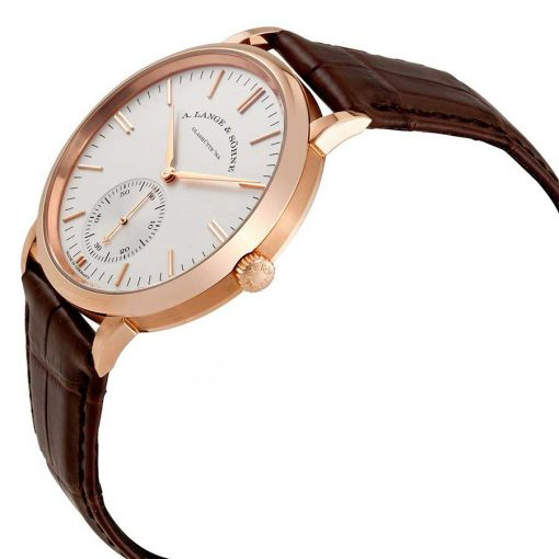 A. Lange and Sohne Saxonia White Dial 18K Rose Gold Automatic Men's Watch, 380.033 2