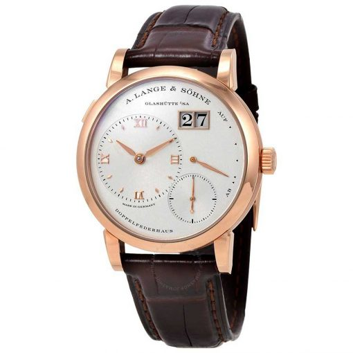 A. Lange and Sohne Lange 1 Power Reserve 18K Yellow Gold Leather Men's Watch, 191.032