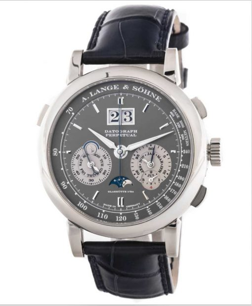 A. Lange and Sohne Datograph Perpetual  White Gold Men's Watch, 410.038