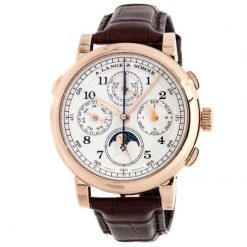 A. Lange and Sohne 1815 Rattrapante Perpetual Calendar 18k Rose Gold Men's Watch 421.032