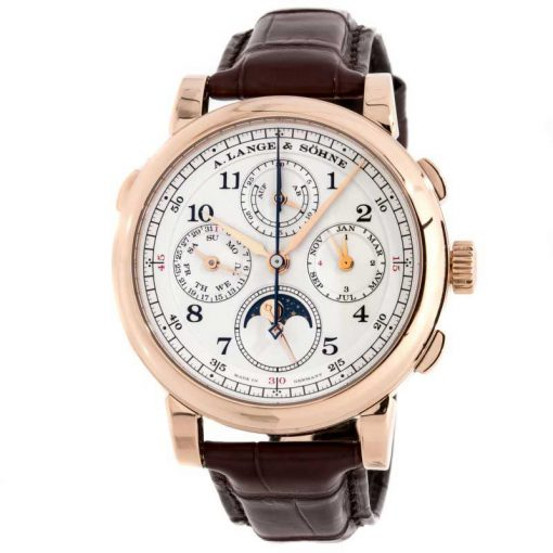 A. Lange and Sohne 1815 Rattrapante Perpetual Calendar 18k Rose Gold Men's Watch, 421.032