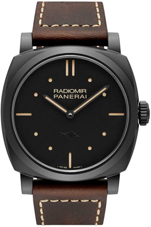 Officine Panerai Radiomir 1940 Black Dial Automatic Matt Black Ceramic Men's Watch, PAM00577
