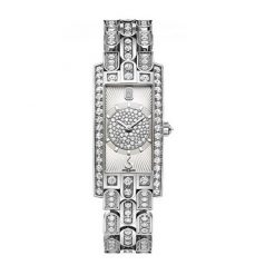 Harry Winston Avenue Art Deco 18k White Gold Diamonds Ladies Watch AVCQHM19WW135
