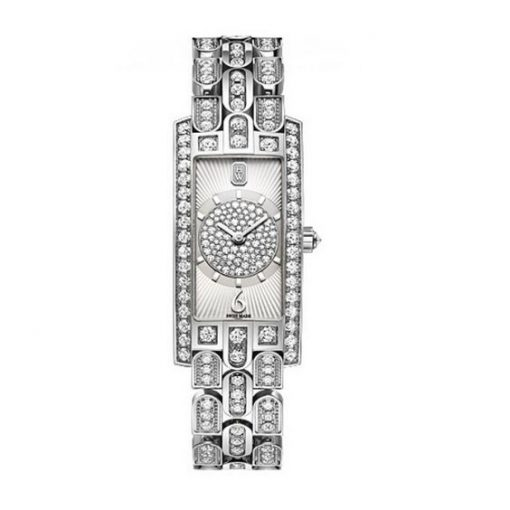 Harry Winston Avenue Art Deco 18k White Gold Diamonds Ladies Watch, AVCQHM19WW135