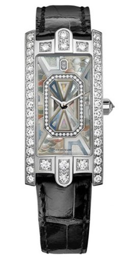 Harry Winston Avenue C Precious Marquetry 18k White Gold Diamonds Ladies Watch AVCQHM19WW139