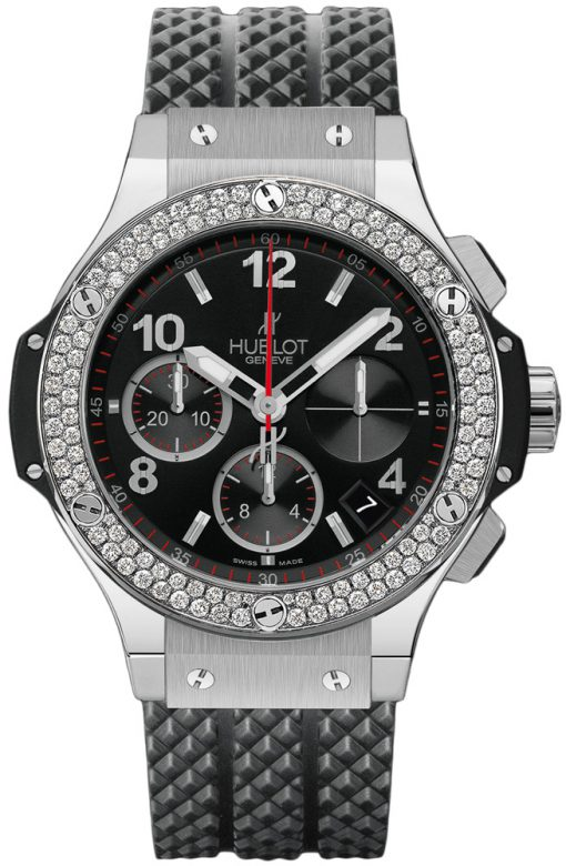 Hublot Big Bang Stainless Steel Rubber Diamonds Automatic Men's Watch, 341.SX.130.RX.114
