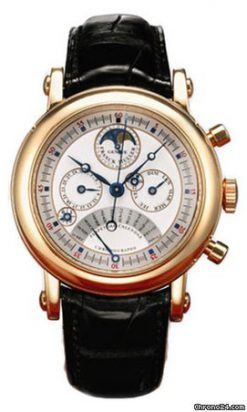 Franck Muller Moonphase Perpetual Calendar Chronograph 18K Rose Gold Men's Watch preowned.7000-QP-E