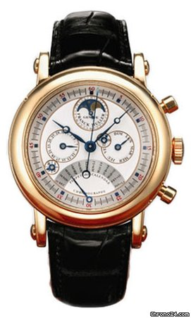 Franck Muller Moonphase Perpetual Calendar Chronograph 18K Rose Gold Men's Watch, preowned.7000-QP-E