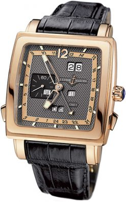 Ulysse Nardin Quadrato Dual Time Perpetual Rose Gold Men's Watch preowned 326-90/69