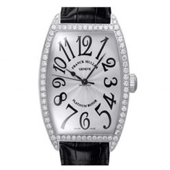 Franck Muller Cintree Curvex Classique 18K White Gold & Diamonds Ladies Watch preowned.6850-SC-DP