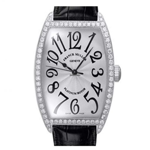 Franck Muller Cintree Curvex Classique 18K White Gold & Diamonds Ladies Watch, preowned.6850-SC-DP