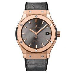 Hublot Classic Fusion 18k Rose Gold Automatic Leather Men's Watch 511.OX.7081.LR