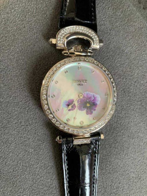 """Bovet Amadeo Fleurier 39mm """"Pansy"""" Ladies Watch in 18K White Gold., AF39010-SD123-LT07 10"""