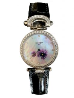 "Bovet Amadeo Fleurier 39mm ""Pansy"" Ladies Watch in 18K White Gold. AF39010-SD123-LT07"