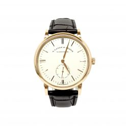 A. Lange And Sohne Saxonia 18k Rose Gold Manual Leather Men's Watch 219.032