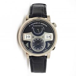 A. Lange and Sohne 18k White Gold Leather Manual Men's Watch 145.029