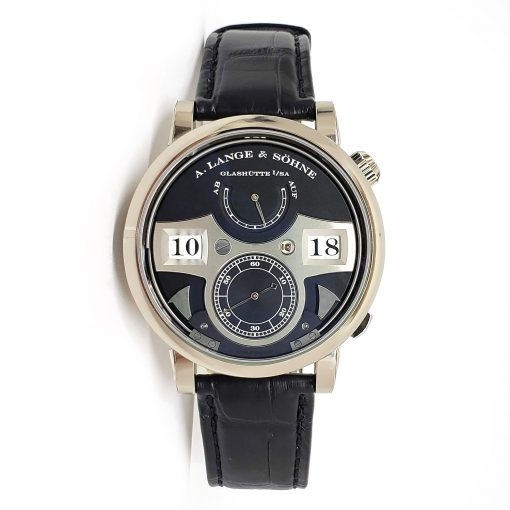 A. Lange and Sohne 18k White Gold Leather Manual Men's Watch, 145.029