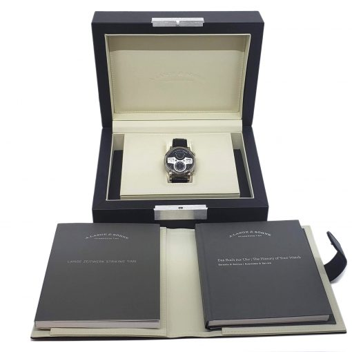A. Lange and Sohne 18k White Gold Leather Manual Men's Watch, 145.029 2