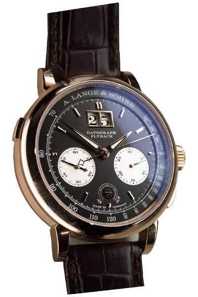 A. Lange and Sohne Saxonia Chronograph 18k Rose Gold Manual Leather Men's Watch, 405.031 3