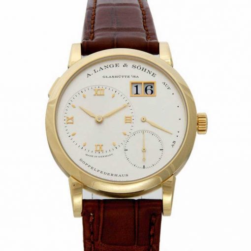 A. Lange and Sohne Grand Lange 18K Yellow Gold Leather Manual Men`s Watch, 191.021
