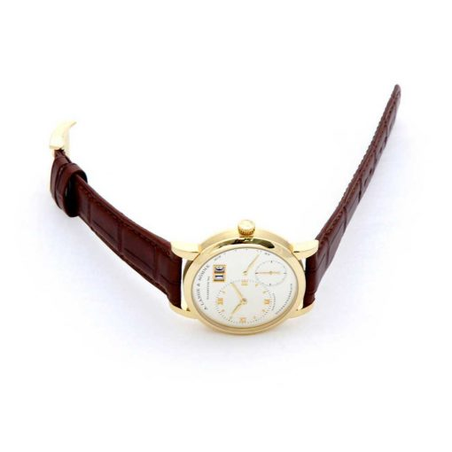 A. Lange and Sohne Grand Lange 18K Yellow Gold Leather Manual Men`s Watch, 191.021 4