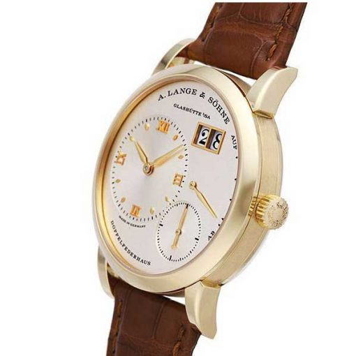 A. Lange and Sohne Grand Lange 18K Yellow Gold Leather Manual Men`s Watch, 191.021 5