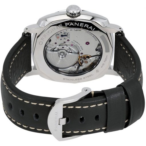 Panerai Radiomir 1940 3 Days GMT Power Reserveand Stainless Steel Leather Men`s Watch, PAM00627 2