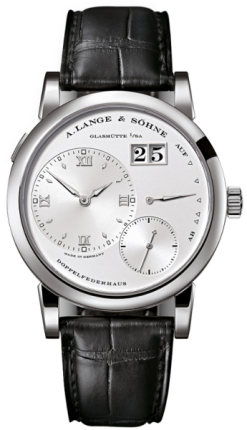 A. Lange And Sohne Grand Lange 18k White Gold Leather Manual Men`S Watch 191.039