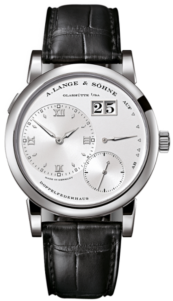 A. Lange And Sohne Grand Lange 18k White Gold Leather Manual Men`S Watch, 191.039