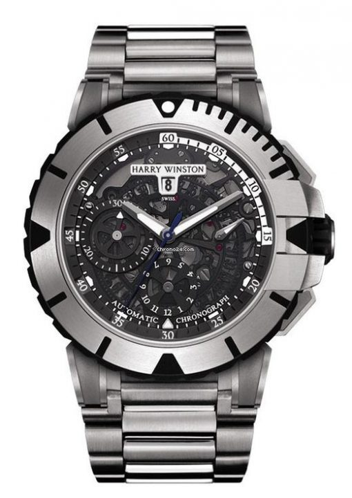 Harry Winston Ocean Sport Chronograph Zalium Men`s Watch, 411/MCA44ZZ.K(OCSACH44ZZ003)