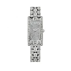 Harry Winston Avenue 18k White Gold Diamonds Ladies Watch AVCQHM19WW009