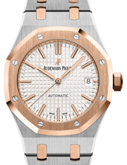 Audemars Piguet Royal Oak 18K Pink Gold & Stainless Steel Ladies Watch 15450SR.OO.1256SR.01