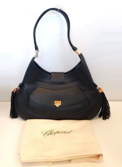 Chopard Madrid Black Calfskin Leather Handbag, New!, Chopard-95000-0306 Chopard-95000-0306