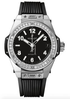 Hublot Big Bang 39mm One Click Steel Diamonds Automatic Watch 465.SX.1170.RX.1204