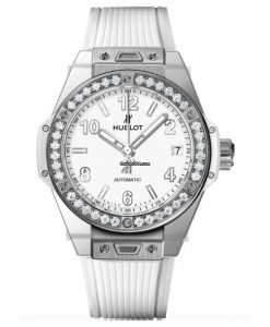 Hublot Big Bang 39mm One Click Steel White Diamonds Automatic Watch 465.SE.2010.RW.1204