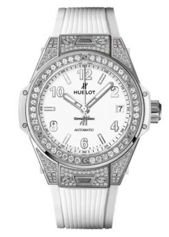 Hublot Big Bang 39mm One Click Steel Diamond Pave Watch 465.SE.2010.RW.1604