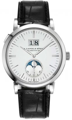 A. Lange & Sohne Saxonia Moon Phase 40mm Mens Watch 384.026