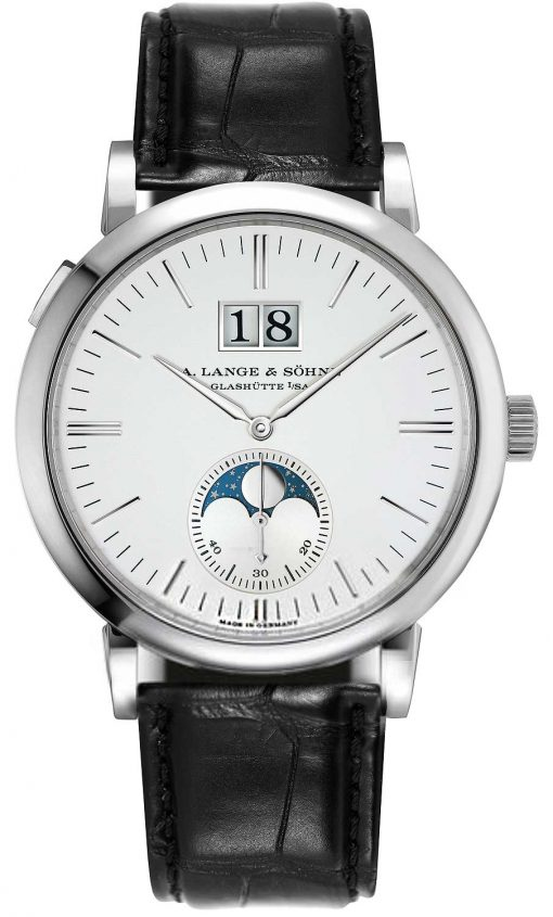 A. Lange & Sohne Saxonia Moon Phase 40mm Mens Watch, 384.026