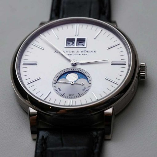 A. Lange & Sohne Saxonia Moon Phase 40mm Mens Watch, 384.026 3